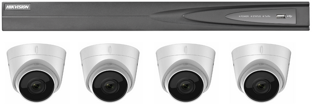 Hikvision 4-Channel with 2Tb Hard-drive and 4 x 4MP Turrets Package