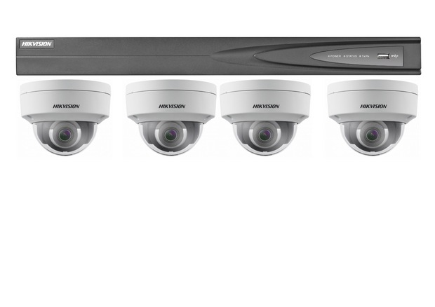 Hikvision 4-Channel NVR with 2Tb Hard-drive and 4 x 6MP Domes Package