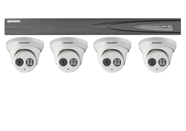 Hikvision 4-Channel NVR with 2Tb Hard-drive and 4 x 4MP Turrets Package