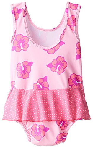 New-i-play-Baby-Girls-039-Skirt-Tanksuit-with-Built-In-Absorbent-Swim-Diaper-Pink