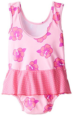 New i play. Baby Girls' Skirt Tanksuit with Built-In Absorbent Swim Diaper, Pink…