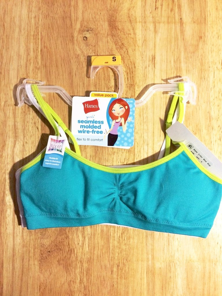 Seamless-Molded-Wire-Free-Girls-Bra-with-Strappy-Back-Set-of-2-pieces-Size-Smal