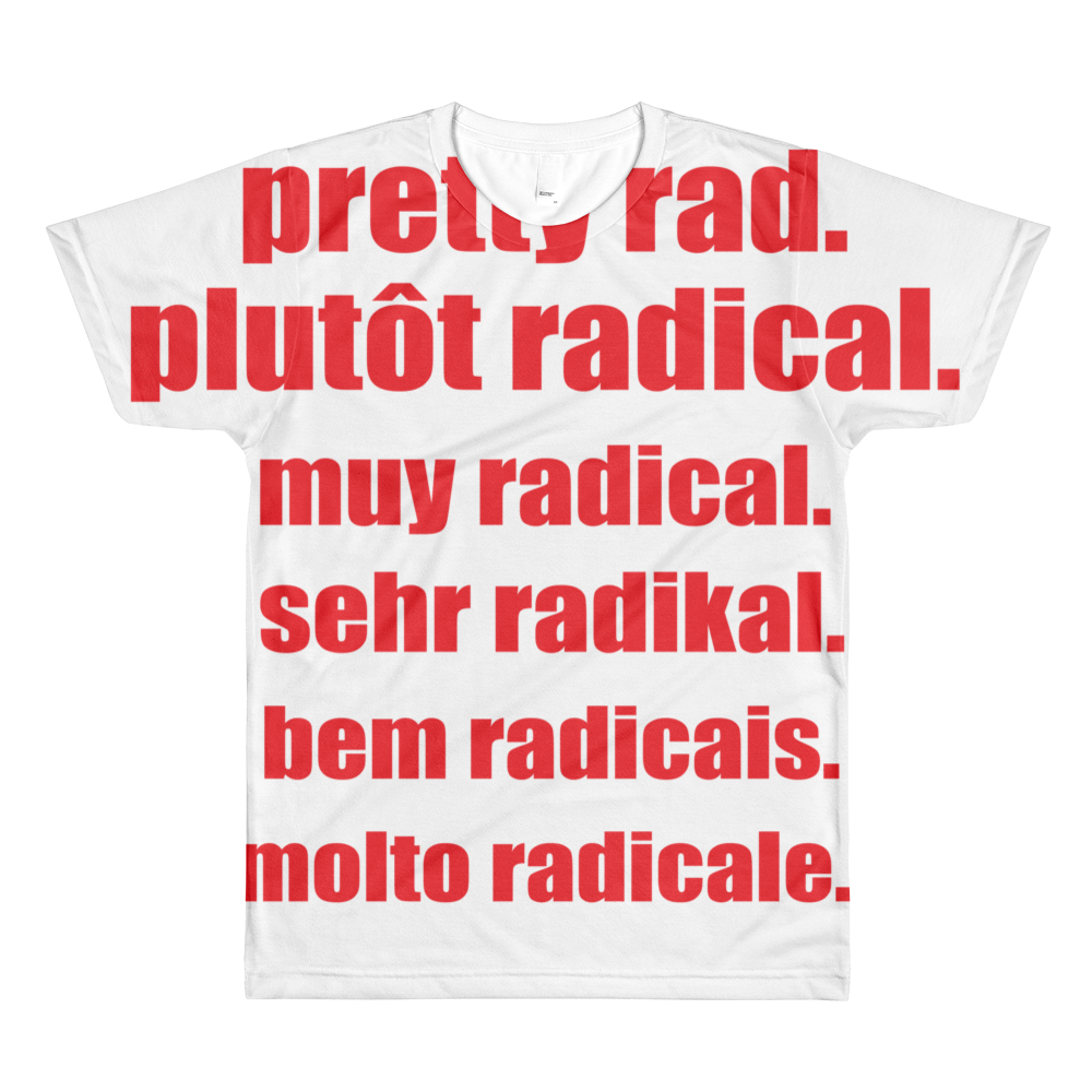 Pretty Rad Languages - Red - All-Over Printed T-Shirt