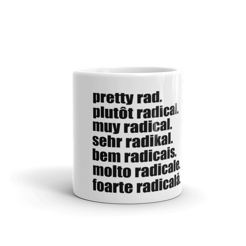 Pretty Rad Languages - Black - Mug