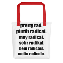 Pretty Rad Languages - Black - All-Over Printed Tote