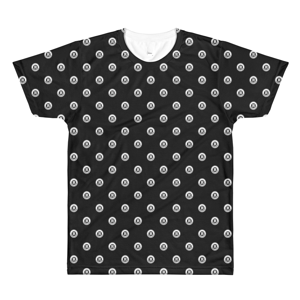 Pretty Rad Medallion Pattern (Black)All-Over Printed T-Shirt