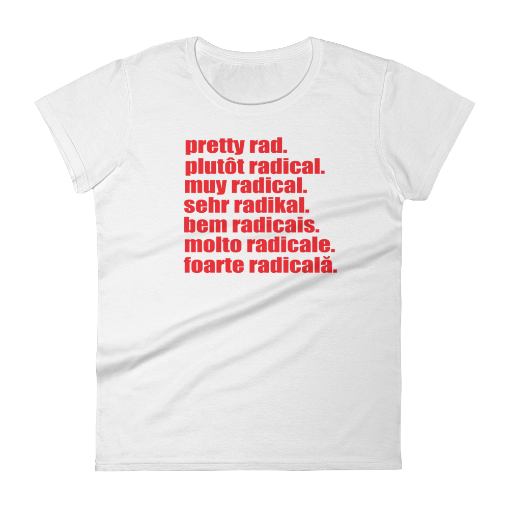 Pretty Rad Languages - Red Print - Women's short sleeve t-shirt