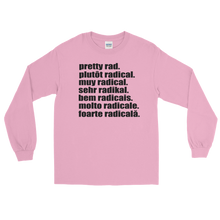 Pretty Rad Languages - Black Print - Long Sleeve T-Shirt
