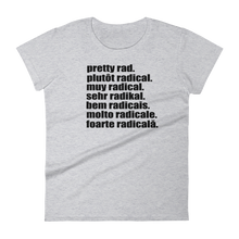 Pretty Rad Languages - Black Print - Women's short sleeve t-shirt