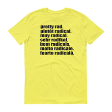 Pretty Rad Languages - Black Print - Short-Sleeve T-Shirt