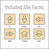 The Direction Die - Dice with Selectable Faces