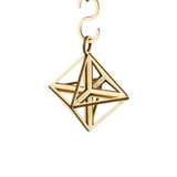 Three Dimensional Packs Flat Star Ornaments - Set of 3