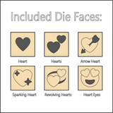 Hearts Die - Dice with Selectable Faces