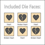 Hopeless Romantic - Dice with Selectable Faces