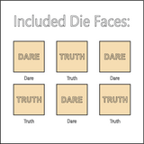 Truth or Dare - Dice with Selectable Faces