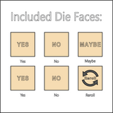 The Decision Maker - Dice with Selectable Faces