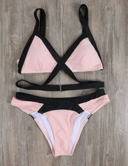 Beach Bunny Triangle Wrap Bikini Set
