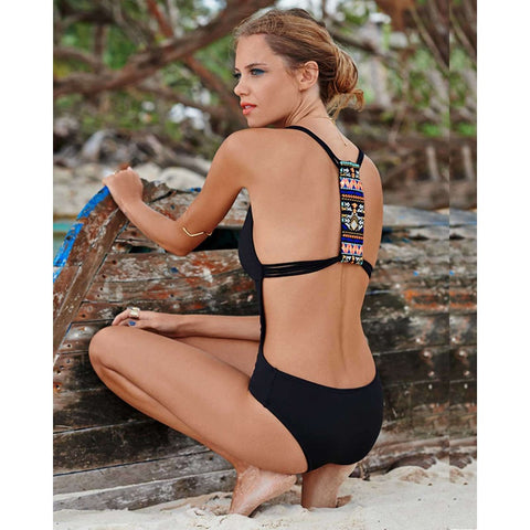 Angeline Racer Back One Piece Swimsuit