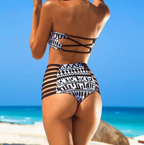 Bohemian Summer High Waisted Bikini Set