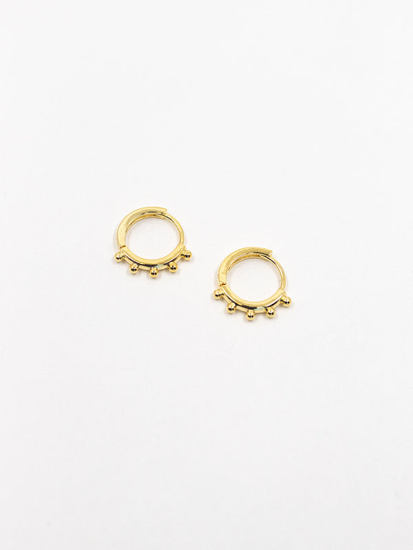 Mini Studded Hoop Huggie Earring