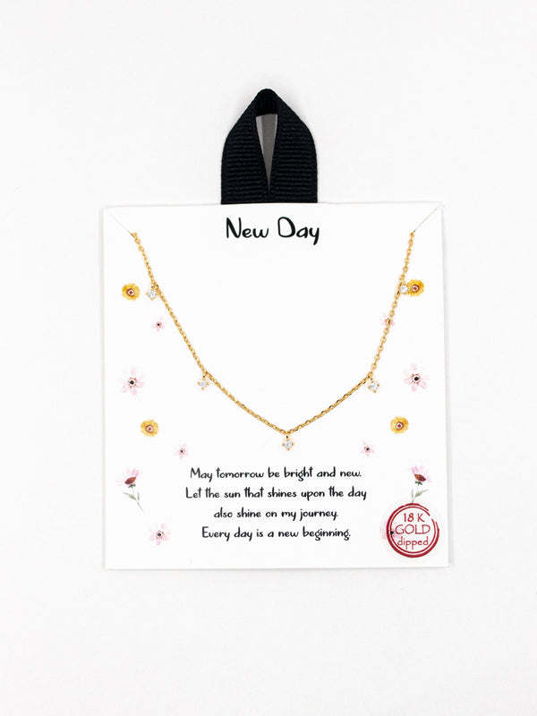 New Day Mini Crystal Necklace