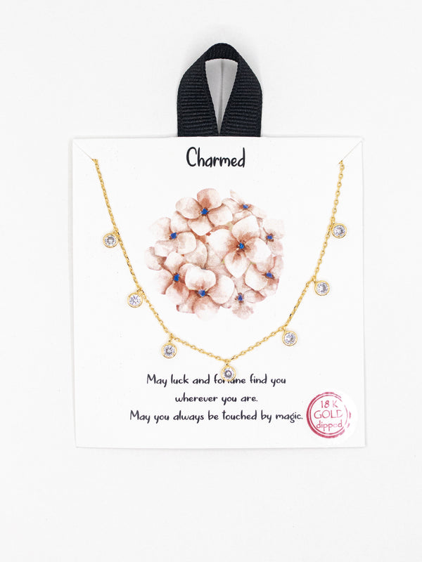 Charmed Round Crystal Necklace