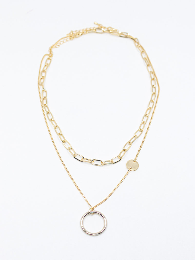 Oval + Circle Necklace