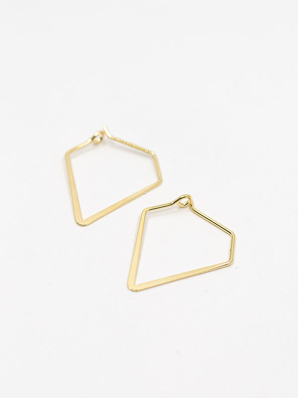Diamond Shape Hoop Earring