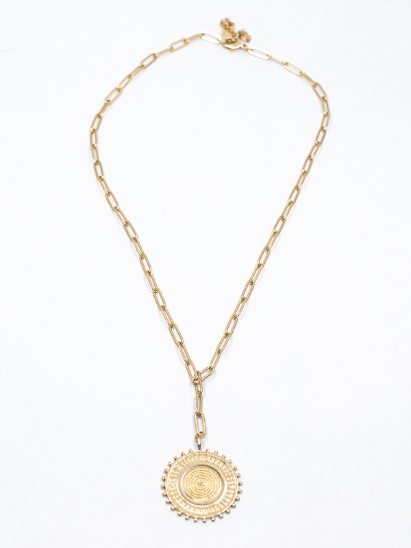 Oval Link Pendant Necklace