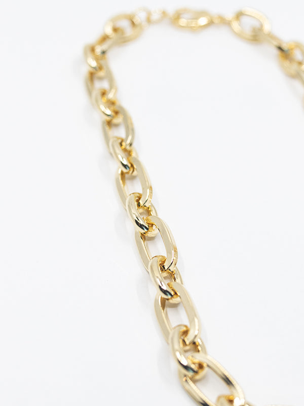 Thick Oval Link Necklace