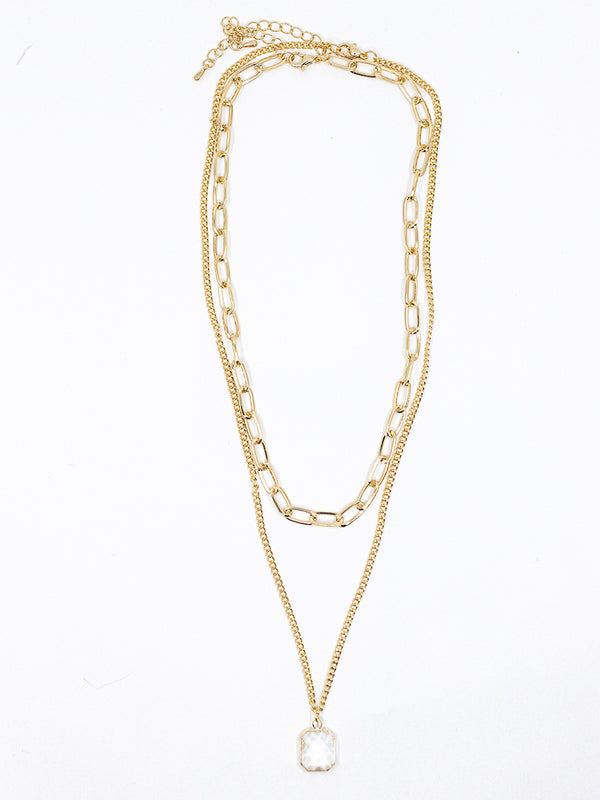 Oval Link + Pendant Necklace