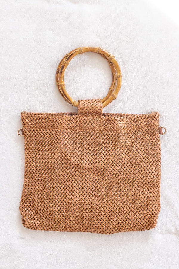 Bamboo Handle Tote Bag