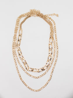 Multi Chain Gold Layered Necklace