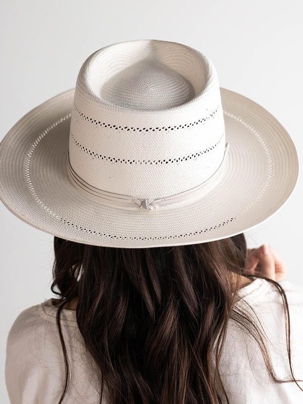 ARLO Cream Straw Teardrop Fedora