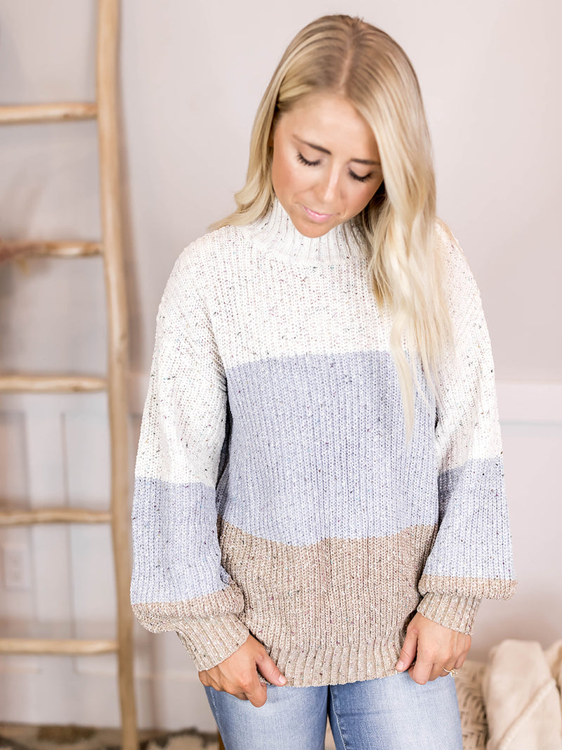 Kenna Chenille Color Block Sweater