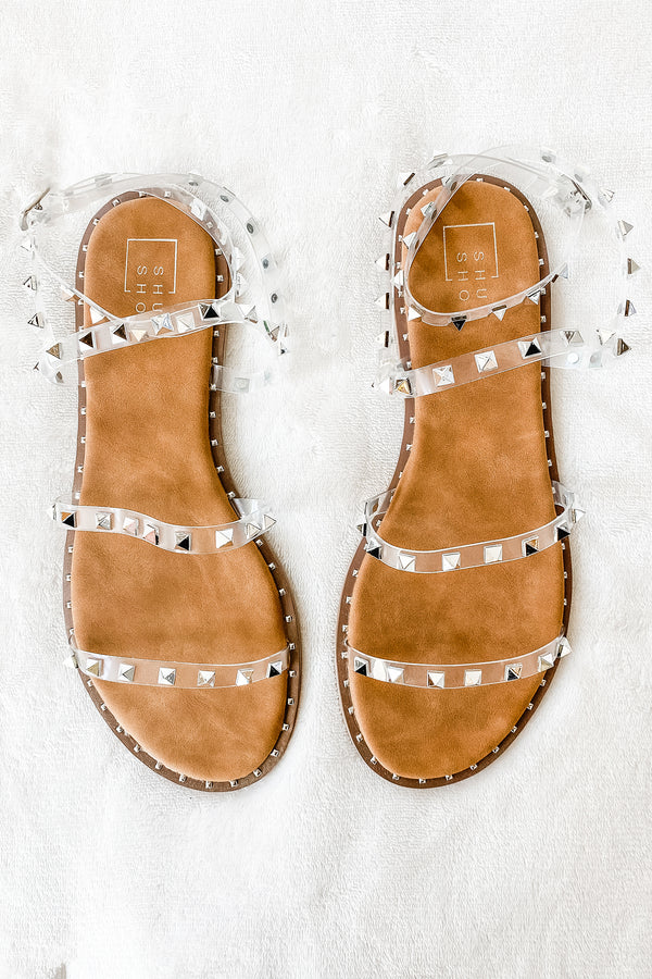 Steve Madden Traveler Sandals with clear straps