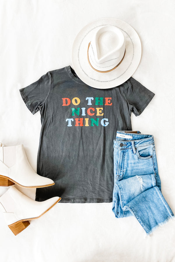 Do the nice thing colorful letter graphic tee