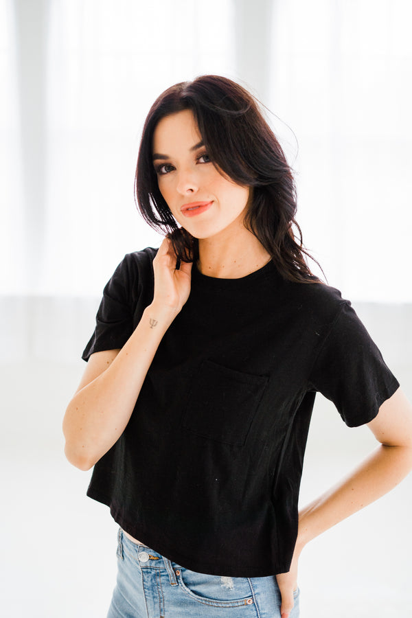 Everyday Black Crop Tee