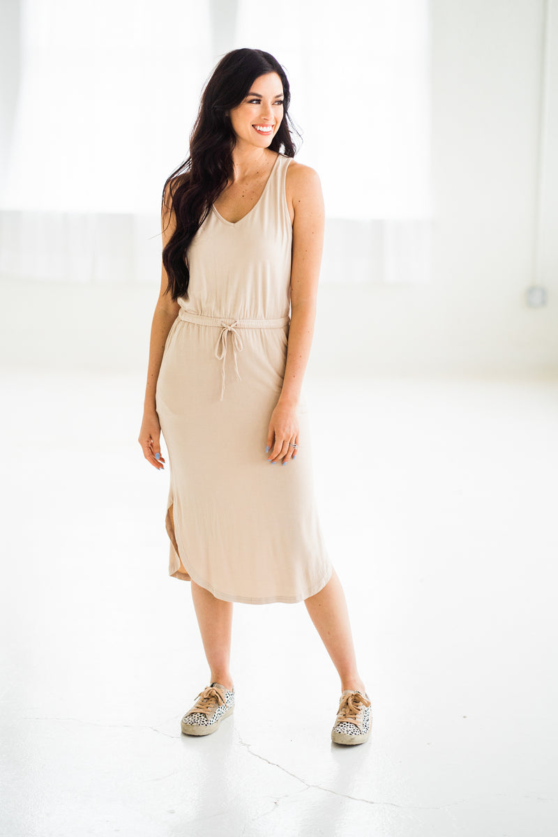 """On My Way"" Jersey Midi Dress"