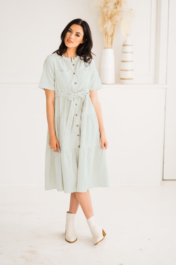 Sadie Corduroy Midi Dress