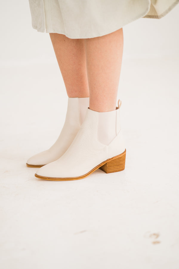 Spring Cream Chinese Laundry Bootie