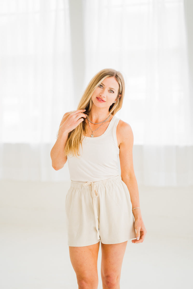 Everyday Cream Ribbed Tank