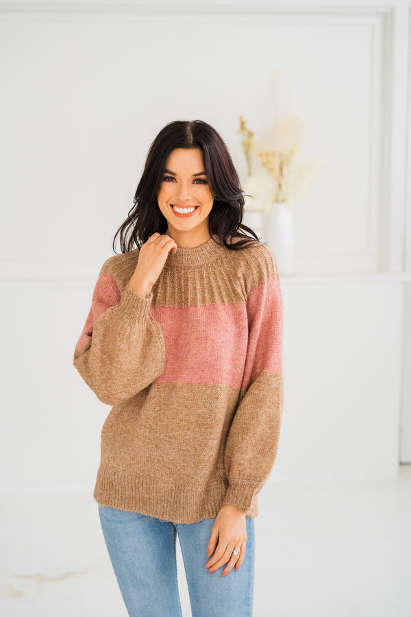 Elias Color Block Sweater