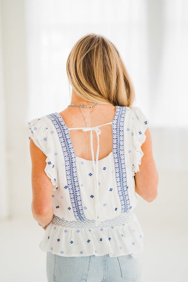 Pretty Days Embroidered Blouse