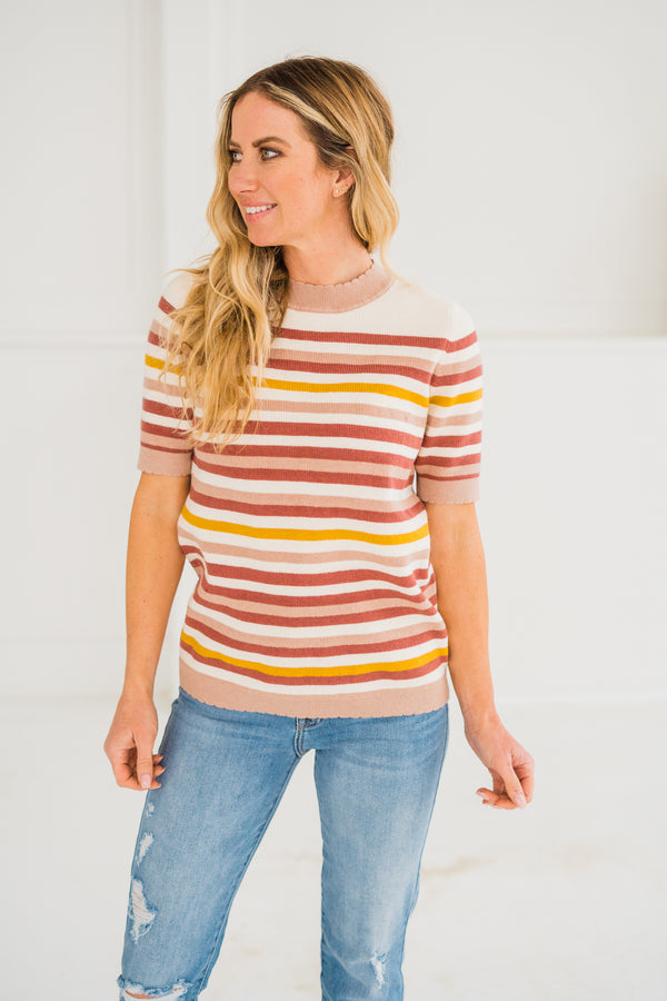 Shayna Stripe Sweater Top