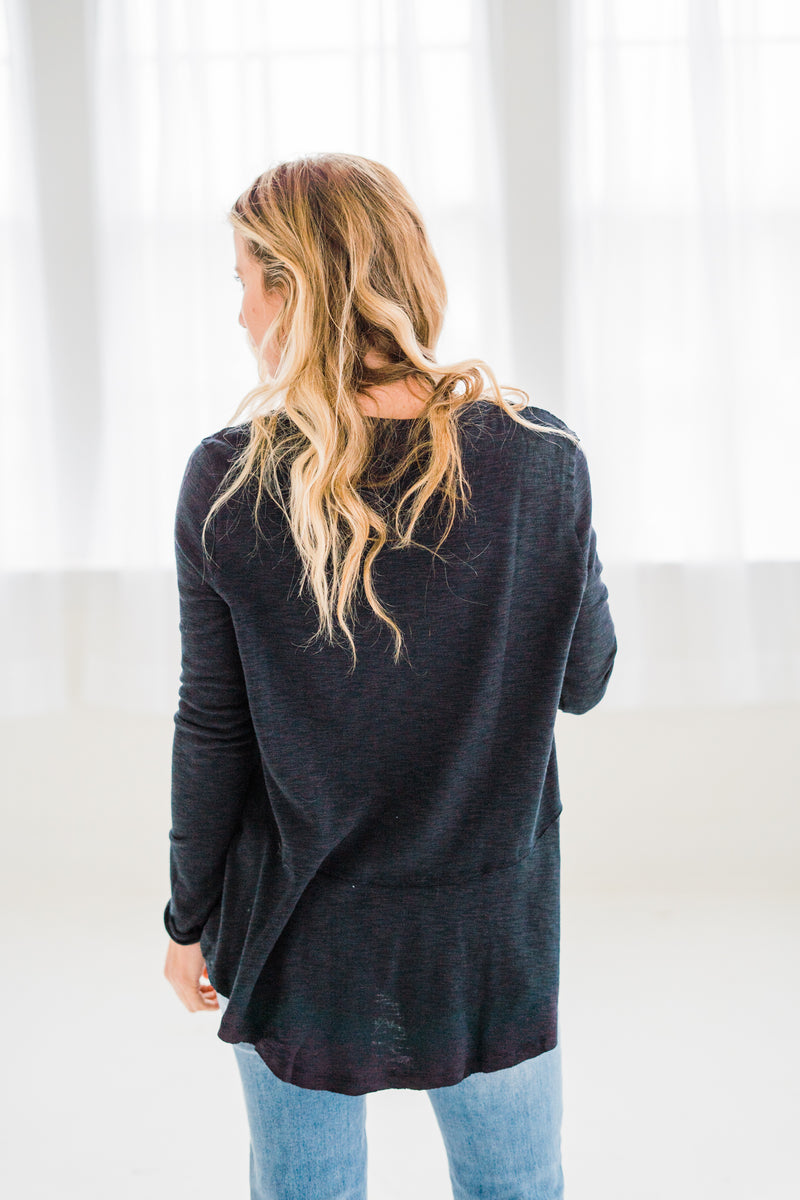 Chrissy Navy Long Sleeve