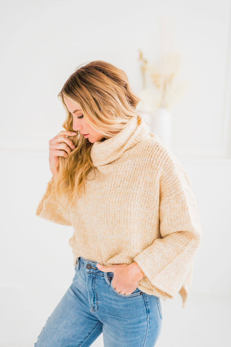 Pia Heathered Crop Sweater