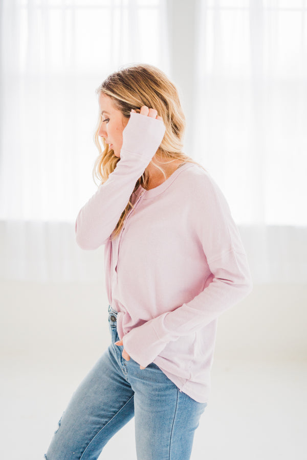 Bree Soft Lilac Henley