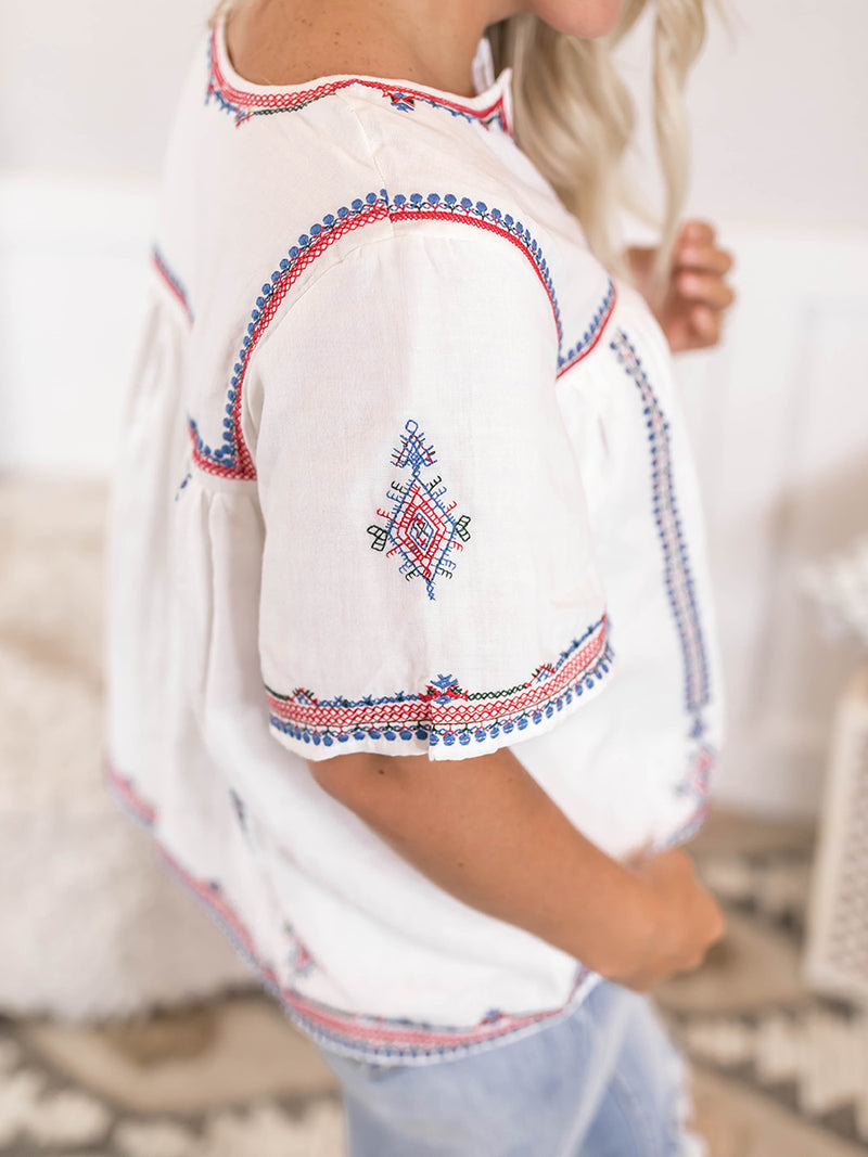 Brielle Embroidered Blouse