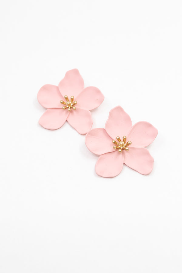 Blush Flower Earring